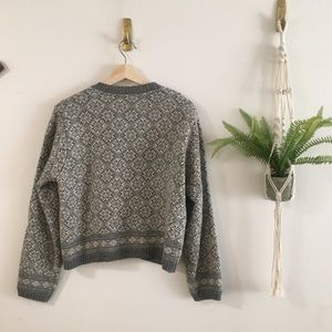 Vintage Sweaters - Gray Cardigan Sweater